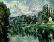 1839 Posters - The Banks of the Marne at Creteil Poster by Paul Cezanne