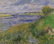 1876 Paintings - The Banks of the Seine Champrosay by Pierre Auguste Renoir