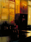 Bartender Paintings - The Bar Scene by Jennifer Speigle