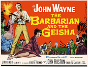 John Wayne Posters - The Barbarian And The Geisha, John Poster by Everett
