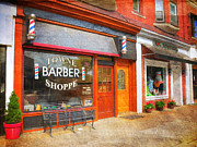 Mayberry Posters - The Barber Shop Poster by Paul Ward