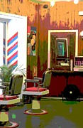 Pop Art Photo Prints - The Barber Shop Print by Sophie Vigneault