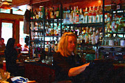 Bars Digital Art Prints - The Barmaid Print by Wingsdomain Art and Photography