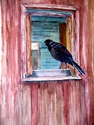 Old Barn Painting Posters - The barn Poster by Patricia Pushaw