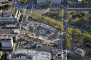 Construction Progress Aerial Photographs - The Barnes Foundation 2025 Benjamin Franklin Parkway Philadelphia PA 19103  by Duncan Pearson