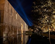 Benjamin Franklin Parkway Photos - The Barnes Reflection Pool During Open Air by Shawn Colborn