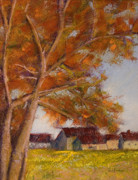 Tree Pastels - The Barns by David Patterson