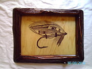 Fly Fishing Drawings Originals - The Baron Salmon Fly by Peter Kaniaru