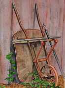 Back Yard Paintings - The Barrow by John W Walker