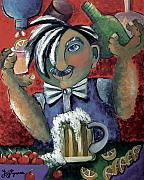 Bartender Paintings - The Bartender by Elizabeth Lisy Figueroa