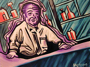 Bartender Paintings - The Bartender by Matthew Stennett