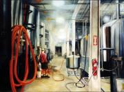 Illustrative Paintings - The Bashful Brewer by Gregg Hinlicky