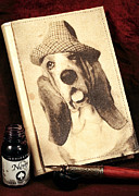 Diary Acrylic Prints - The Basset Diaries Acrylic Print by John Rizzuto