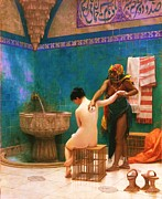 Harem  Paintings - The Bath by Pg Reproductions