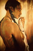 Artist Curtis James Pastels - The Bather I by Curtis James