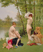 Undressing Paintings - The Bathers by Jules Scalbert