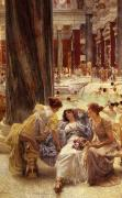 Ancient Woman Posters - The Baths of Caracalla Poster by Sir Lawrence Alma-Tadema
