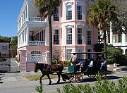Carriages Posters - The Battery in Charleston Poster by Susanne Van Hulst