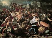Hero Paintings - The Battle by Nicolas Poussin