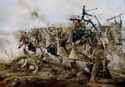 First World War Painting Metal Prints - The battle of Achi Baba 1915 Metal Print by Chris Collingwood