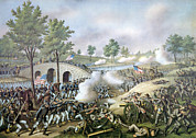 The Battle Of Antietam, September 17 Print by Everett