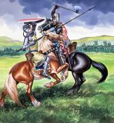 Gouache Paintings - The Battle of Bannockburn by Ron Embleton