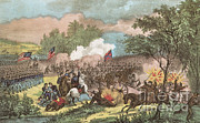 Longstreet Prints - The Battle Of Chickamauga, 1863 Print by Photo Researchers