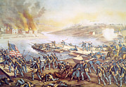 Fredericksburg Framed Prints - The Battle Of Fredericksburg, December Framed Print by Everett