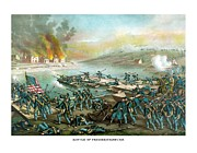 Military History Mixed Media Framed Prints - The Battle of Fredericksburg Framed Print by War Is Hell Store