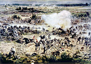 Battle Of Gettysburg Framed Prints - The Battle Of Gettysburg, Picketts Framed Print by Everett