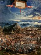 Mountains Art - The Battle of Issus by Albrecht Altdorfer
