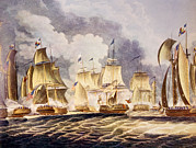War Of 1812 Prints - The Battle Of Lake Erie, Commodore Print by Everett
