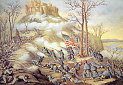 Battle Photos - The Battle Of Lookout Mountain by Everett