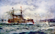 1890s Prints - The Battle Of Manila Bay, The American Print by Everett