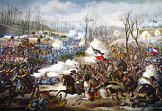 Confederate Flag Framed Prints - The Battle Of Pea Ridge, Framed Print by Granger