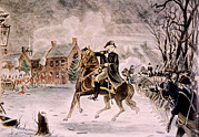 Rire Art - The Battle Of Trenton, General George by Everett
