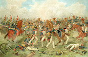 21st Paintings - The Battle of Vitoria June 21st 1813 by John Augustus Atkinson