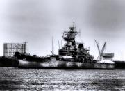 Delaware River Prints - The Battleship New Jersey Print by Bill Cannon
