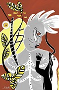 Barbara Drake Prints - The Batutut Forest People Print by Barbara Drake