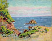 Coastal Scenes Prints - The Baumettes Print by Jean Baptiste Armand Guillaumin