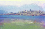 80s Prints - The Bay - San Francisco Print by Steve Ohlsen