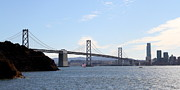 Oakland Bay Bridge Posters - The Bay Bridge and The San Francisco Skyline Viewed From Treasure Island . 7D7778 Poster by Wingsdomain Art and Photography