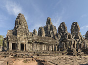 Siem Reap Metal Prints - The Bayon Angkor Thom Siem Reap Cambodia Metal Print by Luis Castaneda Inc.