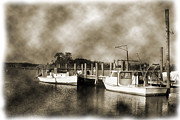 Boats At Dock Photo Posters - The Bayou Poster by Barry Jones