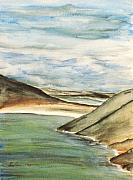 Ireland Drawings - The Beach by Alan Hogan