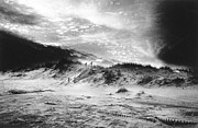 Black And White Photos Prints - The Beach at Bridgehampton Print by Simon Marsden