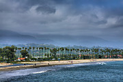 Framed Landscape Prints - The Beach At Santa Barbara Print by Steven Ainsworth