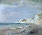 Hills Paintings - The Beach at Varangeville by Renoir
