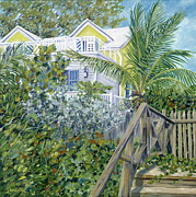 Perry Painting Originals - The Beach House by Danielle  Perry