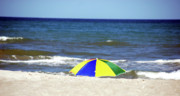 Beach Umbrella Posters - The beach is mine Poster by Susanne Van Hulst